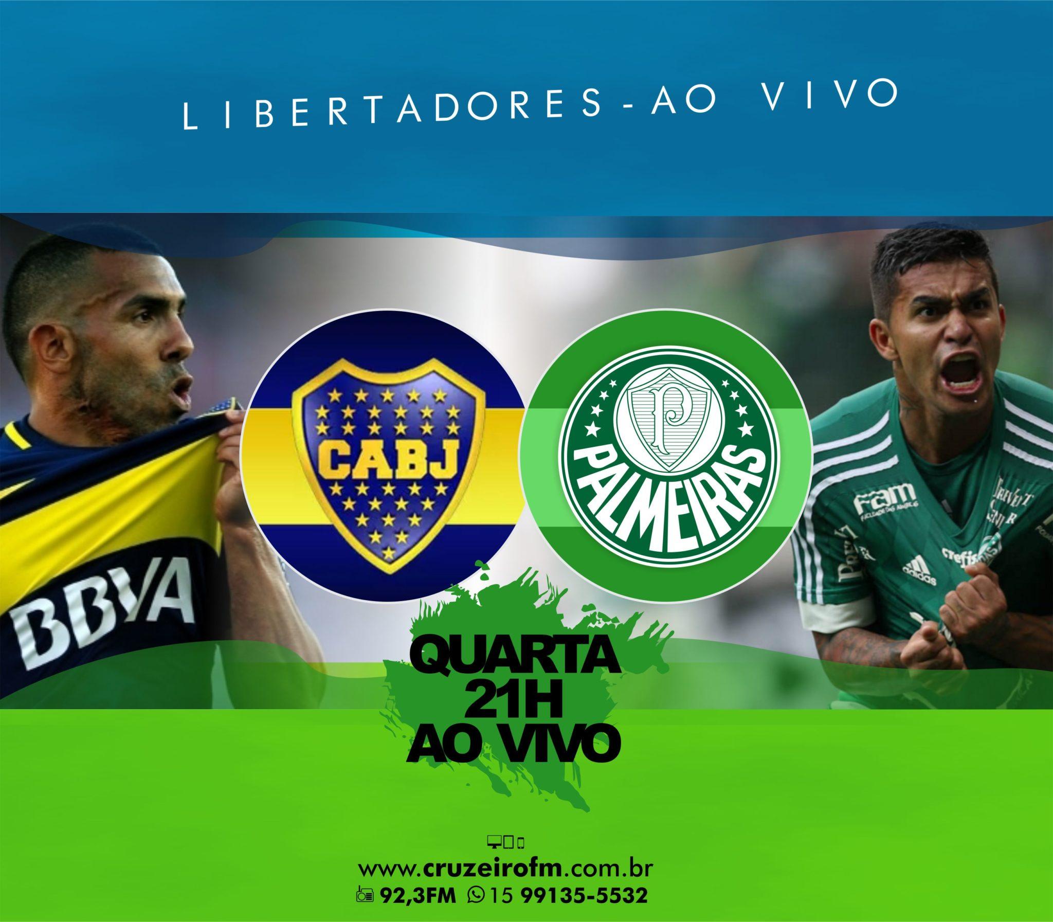 4a05e8ba9b É hoje  Boca Juniors x Palmeiras na Cruzeiro FM